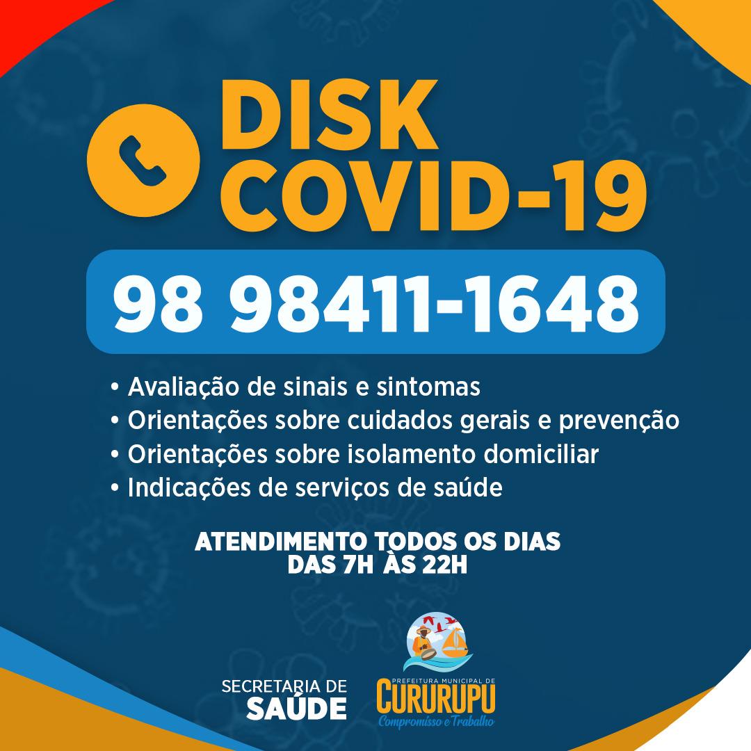 Prefeitura de Cururupu ativa o Disk covid para ajudar a população em relação às suas dúvidas