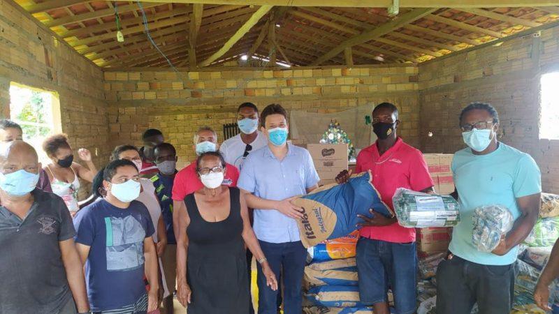 Comunidades quilombolas de Cururupu recebem cestas de alimentos