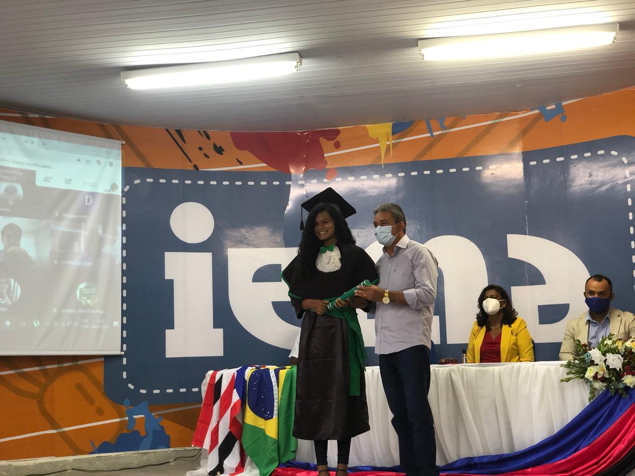 Prefeito Aldo Lopes participa da formatura dos alunos do IEMA em Cururupu