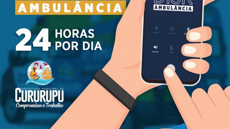 Prefeitura de Cururupu disponibiliza novo Disk Ambulância para o município