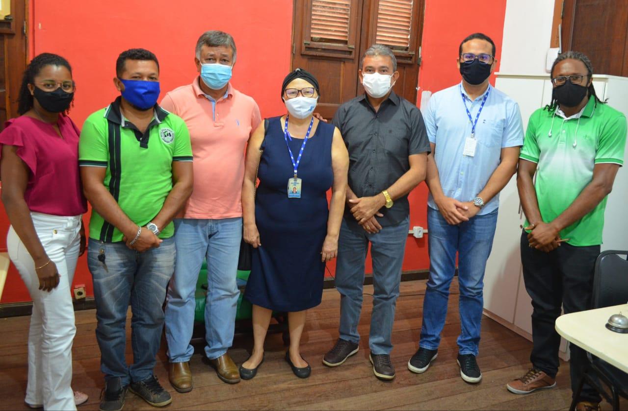 Prefeito Aldo Lopes e o vice Gustavo Pestana recebem visita institucional do Sebrae