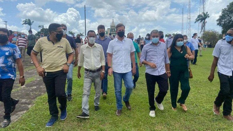 Prefeito Aldo Lopes recebeu o deputado federal Aluisio Mendes que garantiu recursos ao município