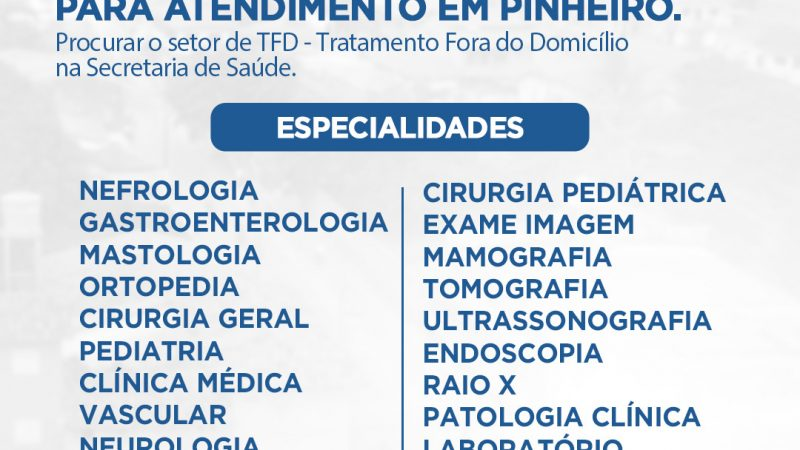 PREFEITURA DIVULGA ESPECIALIDADES MÉDICAS, CONFIRA