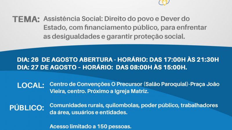 Prefeitura e Conselho Municipal de Assistência Social promovem conferência