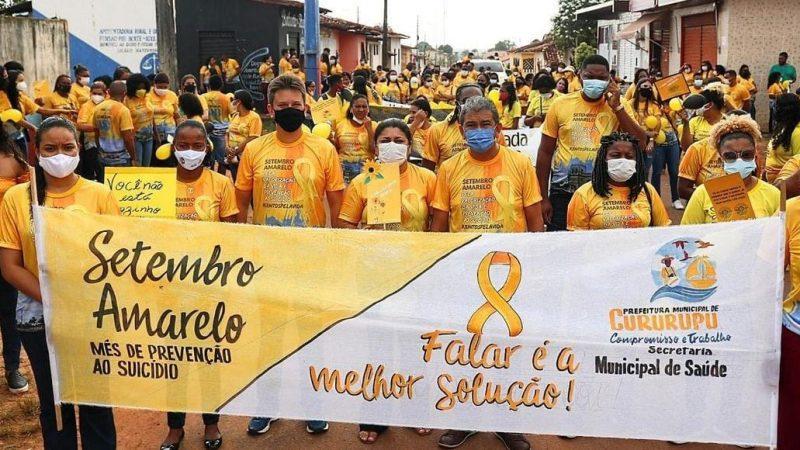"""Prefeitura de Cururupu realiza caminhada alusiva ao """"Setembro Amarelo"""" para consciencializar a população"""